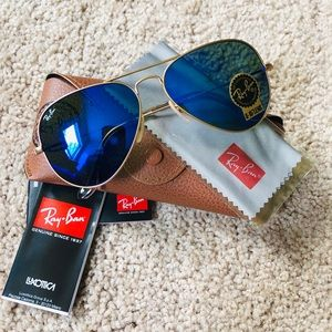 New Ray-Ban aviator 112/17 size 58mm blue